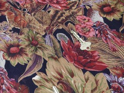 画像1: S.ROBERTS レトロ 花柄 ワンピース風 オールインワン