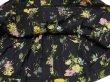 画像9: 50s UNKNOWN ビンテージ ブラック 黒 ベース 花柄 ギャザー コットン スカート (9)
