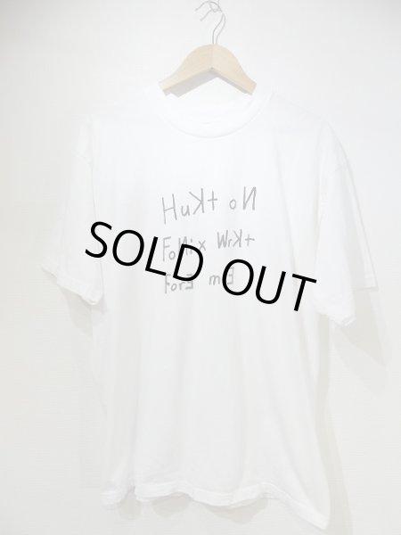 画像1: USA製 90s Rick's AMRICA メッセージ レター プリント Tシャツ (1)