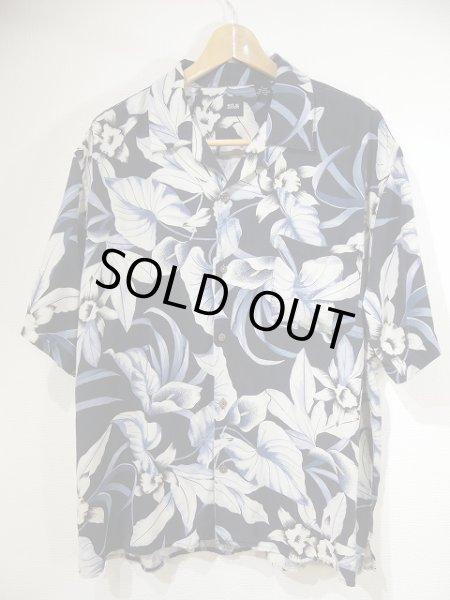 画像1: SILK ICON シルク ボタニカル 柄 アロハ シャツ オープンカラー シャツ ユニセックス  (1)